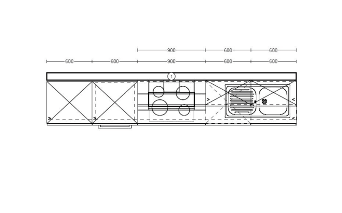 Einbauküche IP2200 in Oregon Eiche-Optik, Vestel Geschirrspüler GSVI60D13A