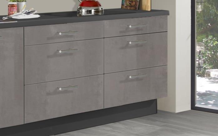 Einbauküche Star 236, graublau, inklusive Elektrogeräte-02
