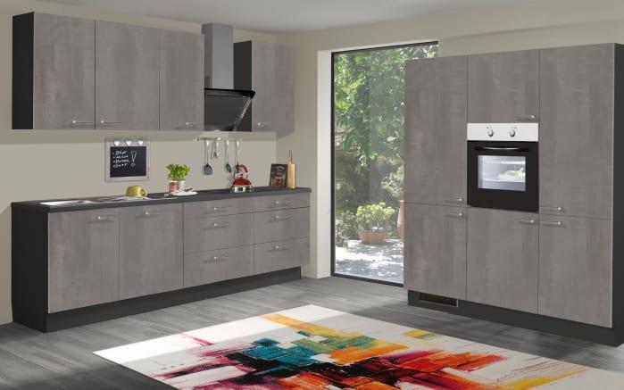 Einbauküche Star 236, graublau, inklusive Elektrogeräte-01