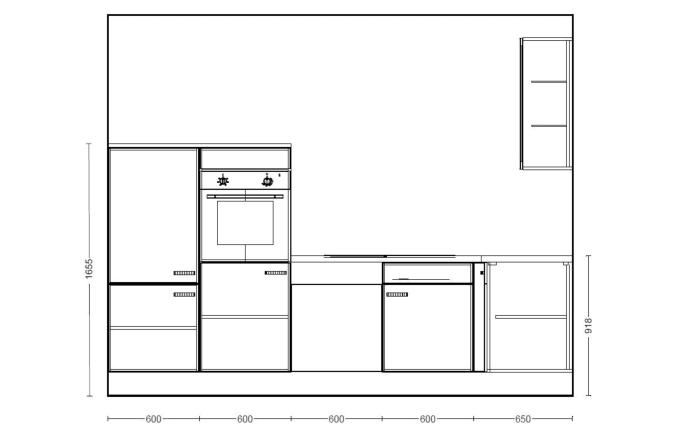 Einbauküche IP 4050 in Hochglanz weiß, Ignis Geschirrspüler GBE1B19X
