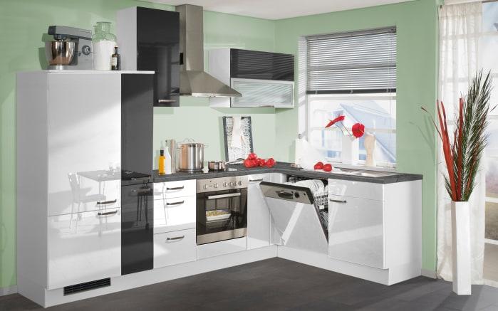 Einbauküche 270 in weiß Hochglanz, AEG-Geschirrspüler FEB31600ZM