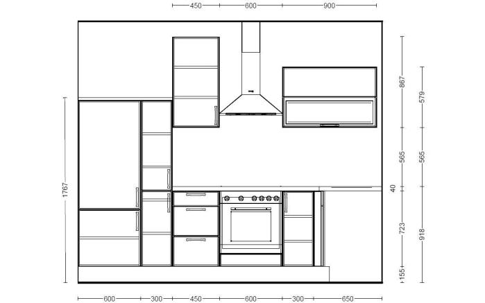 Einbauküche 270 in weiß Hochglanz, Miele-Geschirrspüler