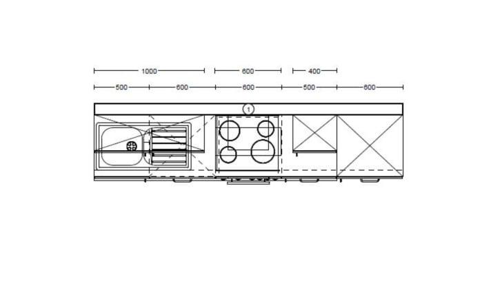 Einbauküche Pino 80 in weiß-chilirot, Siemens-Geschirrspüler SN614X00AE