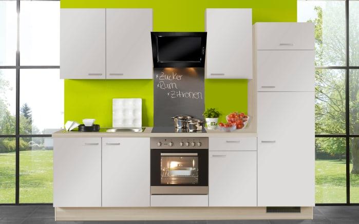 Einbauküche Pino 80 in platingrau, Edelstahl-Spüle