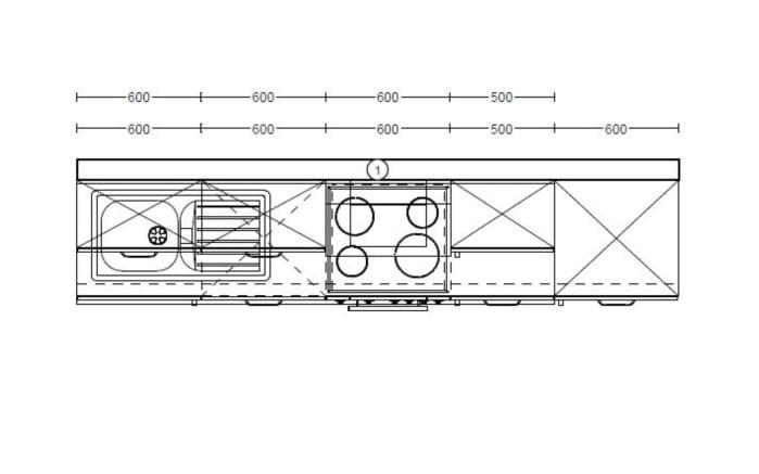 Einbauküche PN 100 in Pinie-Optik, Siemens Geschirrspüler +