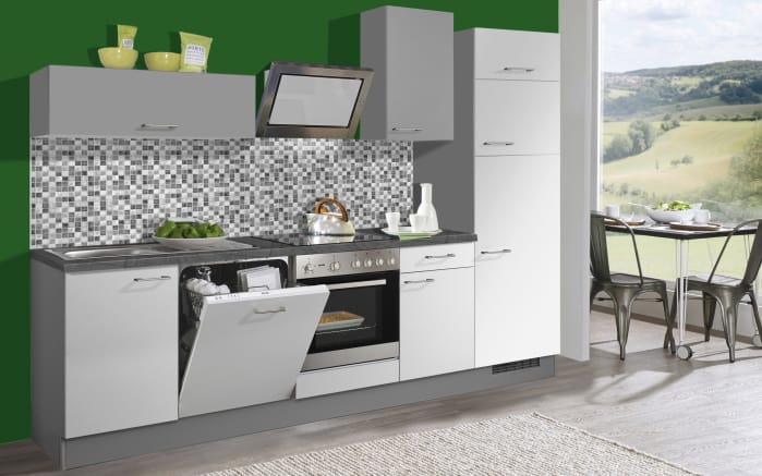 Marken-Einbauküche Pino 80 in weiß, Miele-Geschirrspüler