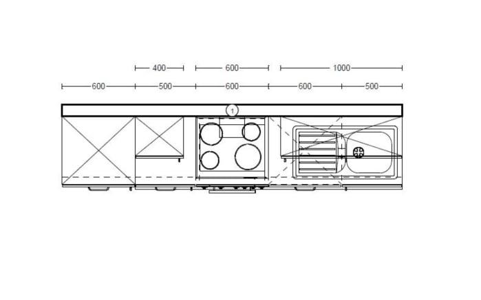 Einbauküche Pino 80 in weiß/mangogelb, Siemens-Geschirrspüler