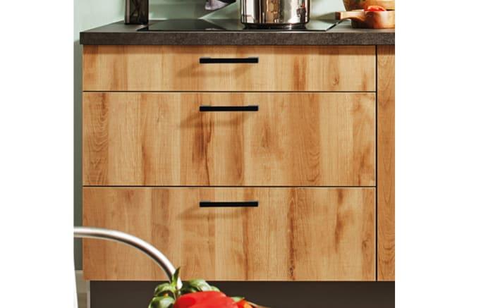 Einbauküche 700 PN100 664, graphit/Honig Eiche Nachbildung, inklusive Elektrogeräte-02
