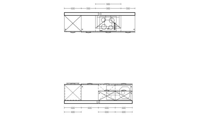 Einbauküche PN435 in weiß matt, Zanker Geschirrspüler KDT10003FB