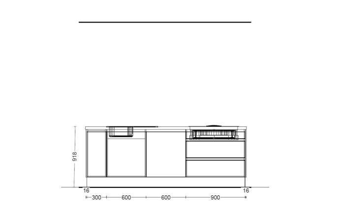 Einbauküche PN490 in weiß matt Lack, Siemens Geschirrspüler SN614X00AE
