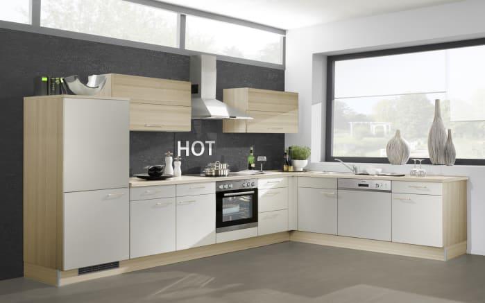 Einbauküche 715 PN 80 in lichtgrau, Zanker Geschirrspüler KDT10003XB
