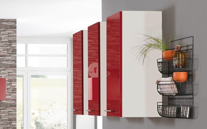 Einbauküche PN270, weiß/rot, inklusive Elektrogeräte-03