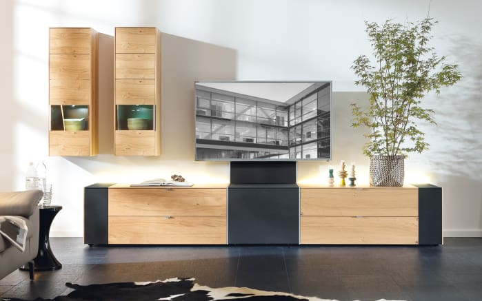 wohnwand q media wildeiche furniert online bei hardeck kaufen. Black Bedroom Furniture Sets. Home Design Ideas