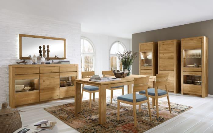 Stuhlgruppe Soleo 3000 in europäische Wildeiche massiv soft gebürstet
