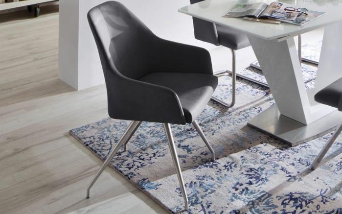 Stuhl Madita in anthrazit, mit ovalen Füßen aus Edelstahl-03