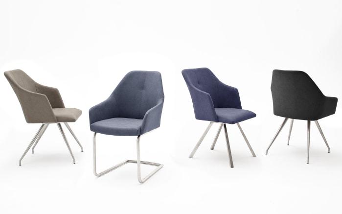 Stuhl Madita in anthrazit, mit ovalen Füßen aus Edelstahl-02