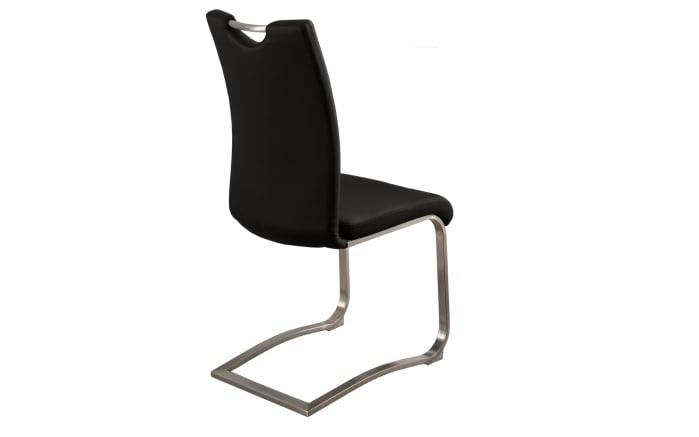 Stuhlgruppe Artos 2 / Waris in schwarz / weiß, mit Tischplatte aus Glas-02