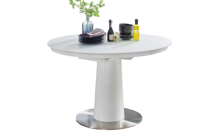 Stuhlgruppe Artos 2 / Waris in schwarz / weiß, mit Tischplatte aus Glas-03
