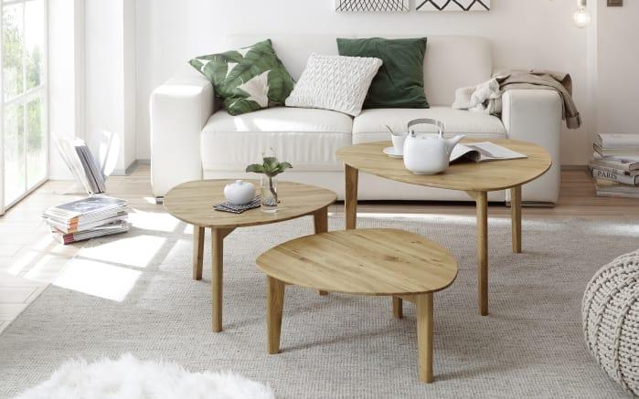3-Satz-Tisch Camilla aus Asteiche massiv