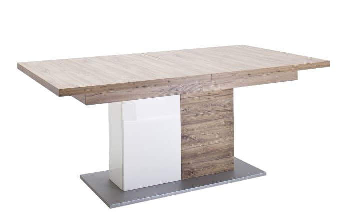 Esstisch Luzern in Sterling Oak-Nachbildung, mit ausziehbarer Tischplatte-01