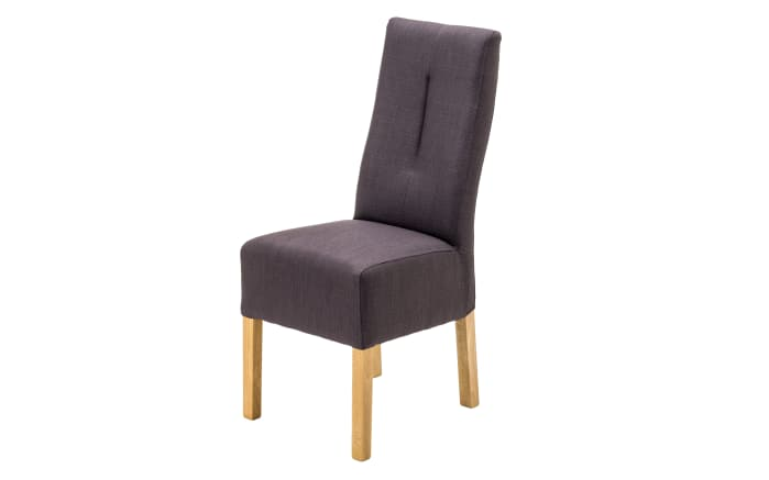 Stuhl Fanny in graubraun/Buche natur