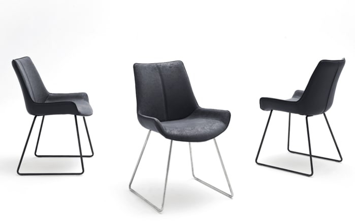 Stuhlgruppe 3039 in weiß / Riviera-Eiche, mit 6 Stühlen-02