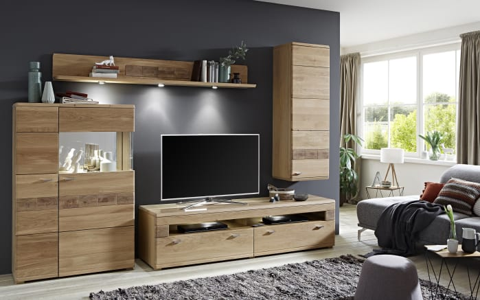 wohnwand miro in eiche bianco online bei hardeck kaufen. Black Bedroom Furniture Sets. Home Design Ideas