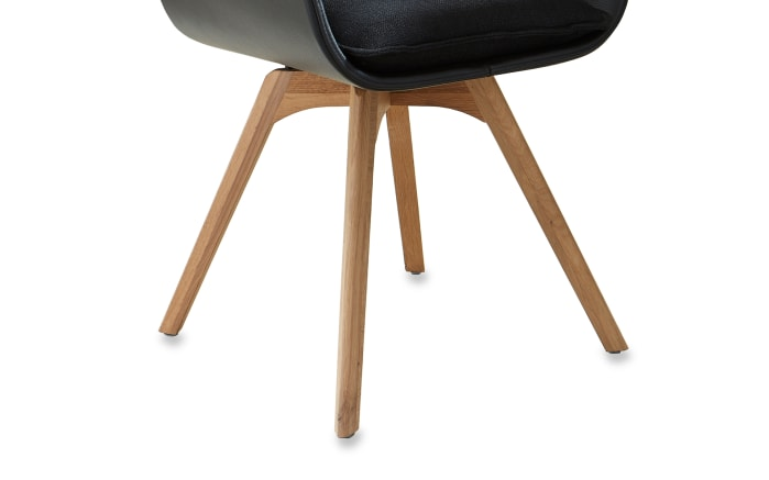 Stuhlgruppe Caya in schwarz/Kerneiche Umato