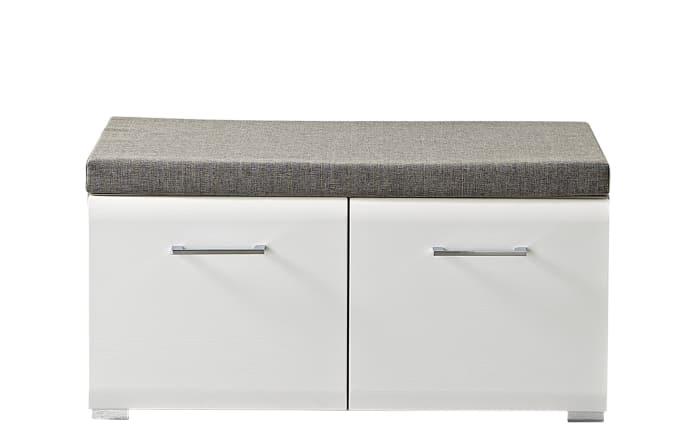 Sitzbank Funny in weiß Struktur/Silbereiche-Optik