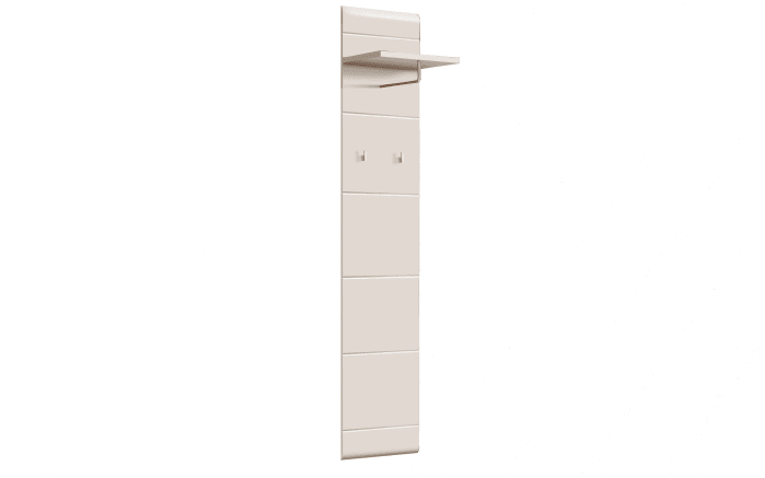 Garderobenpaneel Slate in weiß matt