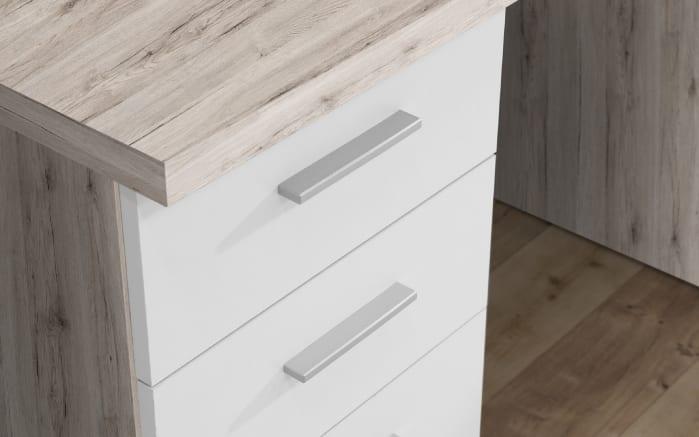 Schreibtisch in Sandeiche-Optik/weiß