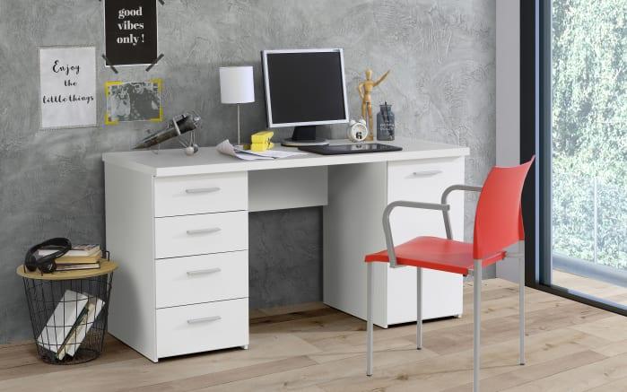 Schreibtisch NET 106 in weiß Matt