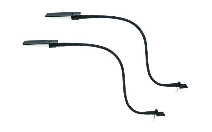 LED-Leseleuchte in schwarz, 2-er Set