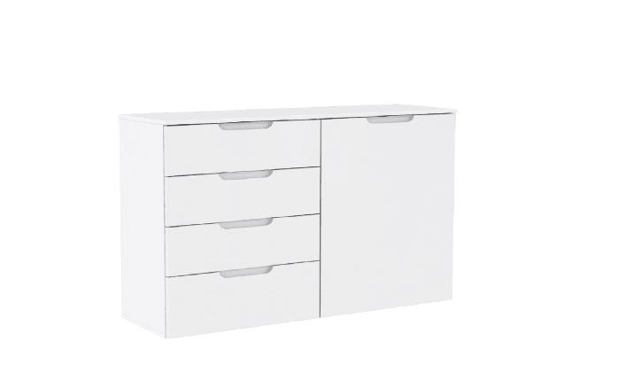 Kommode Sienna in weiß, ca. 110 cm Breit