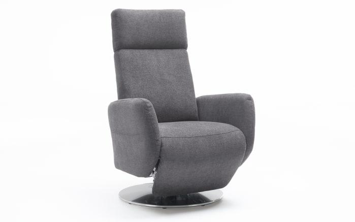 Fernsehsessel Kobra in grau, Sitzhöhe 49 cm