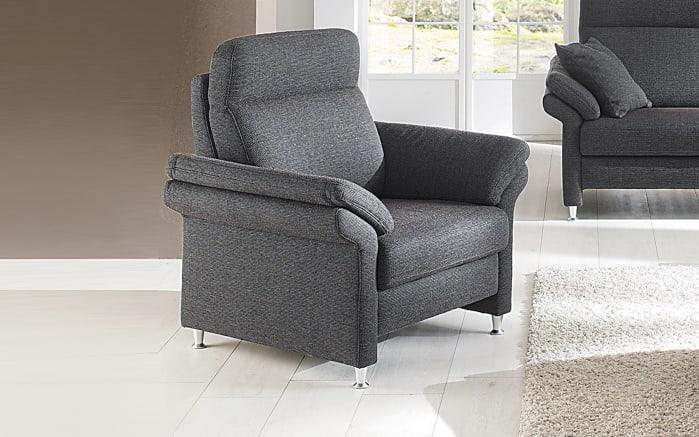 Sessel TS 101 in anthrazit, mit glänzenden Metallfüßen