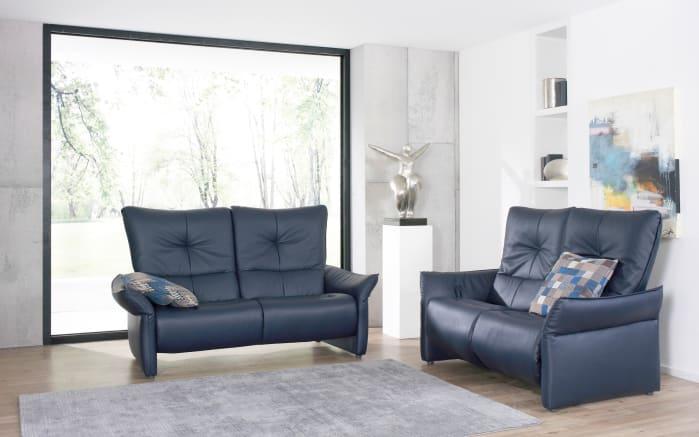 3-Sitzer Cumuy in Rustica blau mit WallFree-Funktion