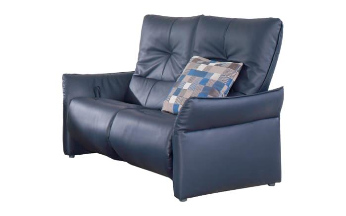 2-Sitzer Cumuy in Leder Rustica blau