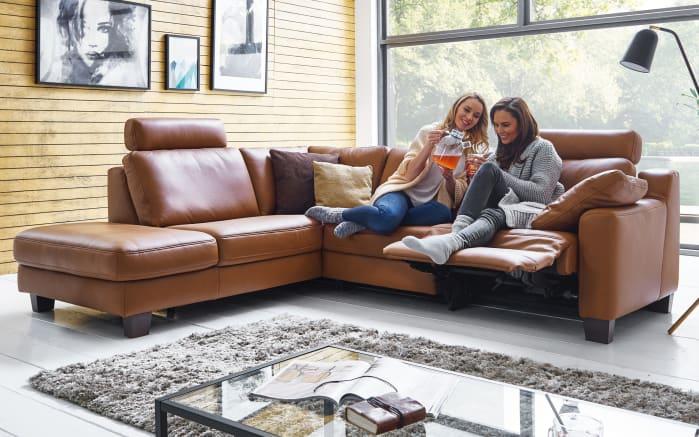 Wohnlandschaft Sofa Concept in Credo tabac, mit Funktion