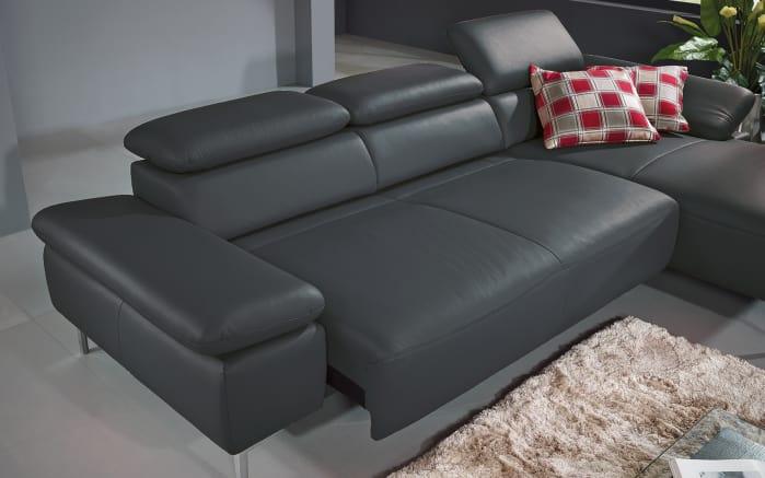 leder wohnlandschaft alecante in schwarz online bei hardeck kaufen. Black Bedroom Furniture Sets. Home Design Ideas