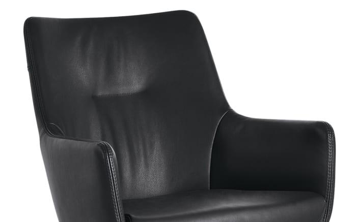 Armlehnenstuhl WK 722 in schwarz