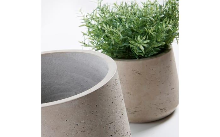 Pflanzengefäß im 2er-Set in grau, 17 cm