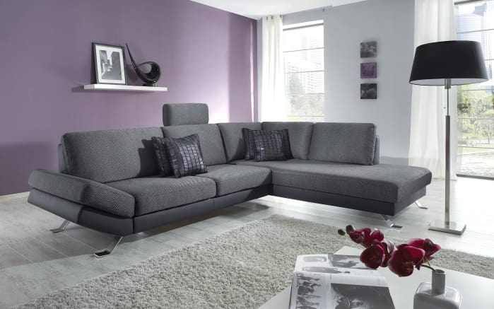 wohnlandschaft arizona in anthrazit schwarz online bei hardeck entdecken. Black Bedroom Furniture Sets. Home Design Ideas