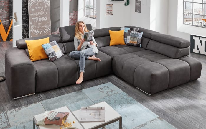 wohnlandschaft filo in anthrazit online bei hardeck entdecken. Black Bedroom Furniture Sets. Home Design Ideas