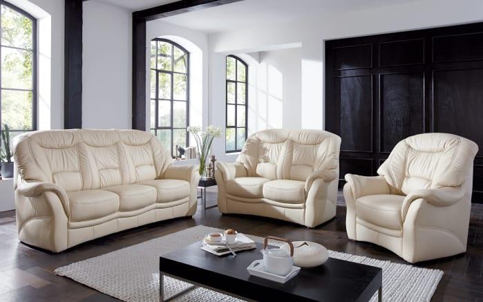Ledergarnitur Home Plan in rose-white