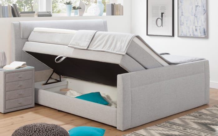 Boxspringbett Aris in grau