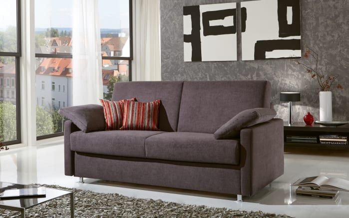 Schlafsofa Styling in anthrazit