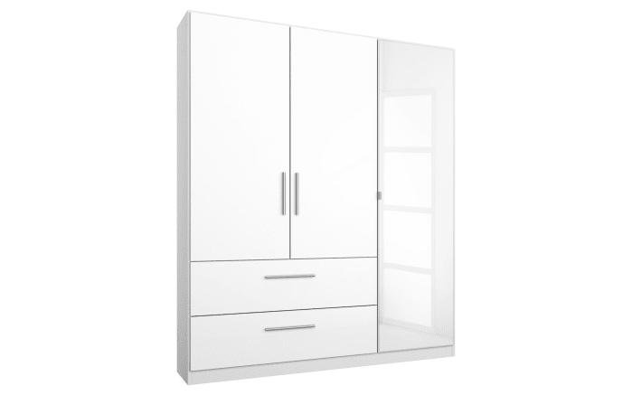 Kleiderschrank Manja in weiß hochglänzend/alpinweiß