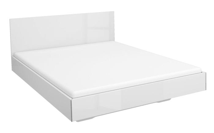 Futonbett Manja in weiß hochglänzend