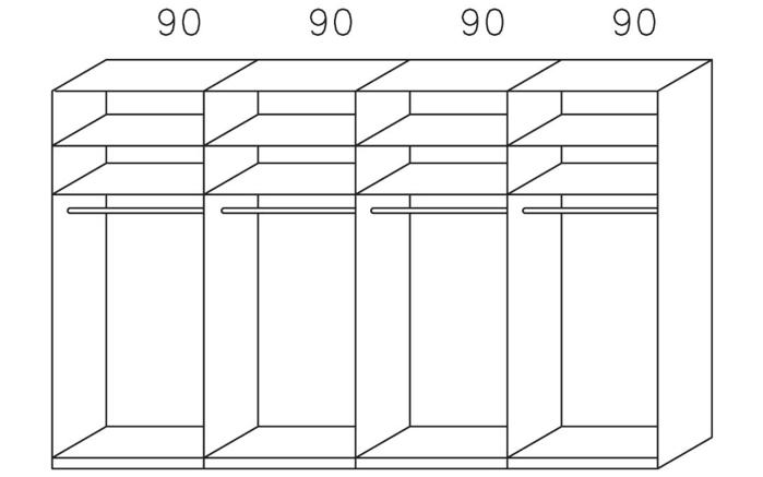 Schwebetürenschrank Sandrin alpinweiß/basalt